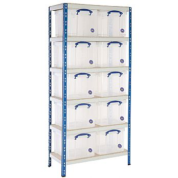 BiG340 Shelving Bay With 10 x 35 litre Really Useful Boxes £209 -