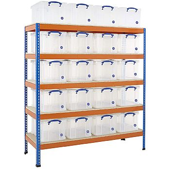 BIG400 Racking Bay With 20 X 48 Litre Really Useful Boxes £439 -