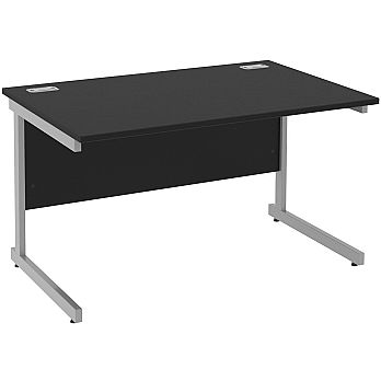 Next Day Eclipse Black Rectangular Cantilever Desks £111 -