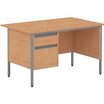Nova Contract Rectangular H Leg Single Pedestal Desks £123 -