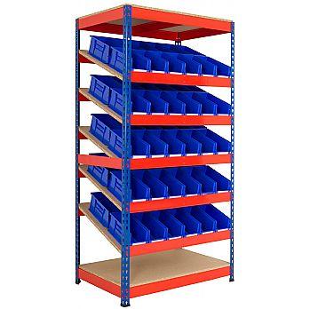 Kanban Inclined Rivet Shelving System and Bin Kits £370 -
