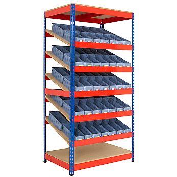 Kanban Inclined Rivet Shelving System and Tray Kits £465 -