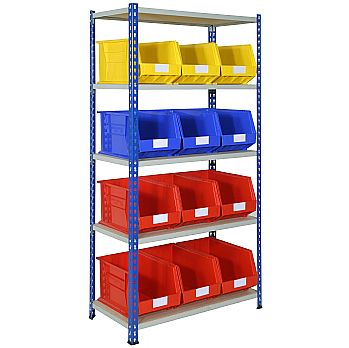 Rivet Shelving and Bin Kit with 12 Bins £250 -