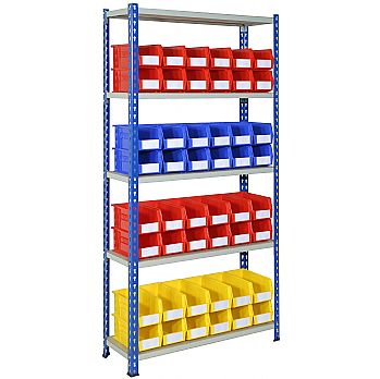 Rivet Shelving and Bin Kit with 48 Bins £230 -