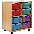 Storage Allsorts 8 Deep Jelly Tray Unit