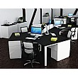 Presence Cluster Desks White & Black