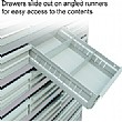 Easy access to drawer contents