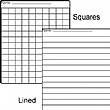 Squares and Lined