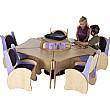 Pentagon Table & Chairs Listening Centre Bundle De