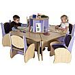 Pentagon Table & Chairs Reading Centre Bundle Deal