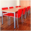 BN Easy Space Rectangular Conference Tables - Round Legs