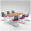 BN Easy Space Barrel Conference Tables - Round Legs