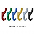 Multi-Coloured Classroom Coat Hook Rails