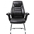 Jersey  Executive Leather Faced Visitor Armchairs
