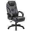 Tuscany High Back Black Leather Manager Chairs