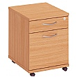 Commerce II 2 Drawer Low Mobile Pedestals