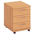Commerce II 3 Drawer Low Mobile Pedestals