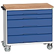 Bott Verso Mobile Roller Cabinets 1050W - 5 Drawers