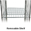 Palletower 4 Sided A-Base Nestable Roll Pallets (With Gate)