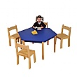 Height Adjustable Hexagonal Classroom Table