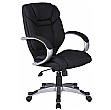 Fiji Fabric Manager Chair - Black