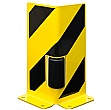 Black Bull Steel Pallet Racking Protectors With Guide Rollers - Right Angle