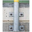 TRAFFIC-LINE Medium Duty Wall Fixed Steel Hoop Guards
