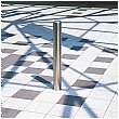 Chichester Removable Stainless Steel Bollards - Padlocked