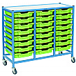 Gratnells Dynamis Collection Shallow Tray 3 Column Storage Trolley