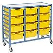Gratnells Dynamis Collection Deep Tray 3 Column Storage Trolley