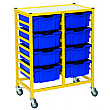 Gratnells Dynamis Collection Deep Tray 2 Column Storage Trolley