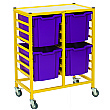 Gratnells Dynamis Collection Jumbo Tray 2 Column Storage Trolley