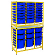 Gratnells Dynamis Collection Tall Double Unit With Variety Trays