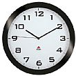 Alba Silent Wall Clock - Black