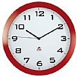 Alba Silent Wall Clock - Red