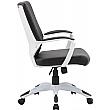 Jupiter Medium Back Bonded Leather Office Chairs