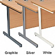 NEXT DAY Karbon K1 Compact Rectangular Cantilever Office Desks with Single Fixed Pedestal