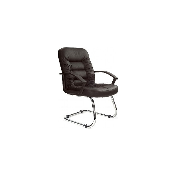 Phoenix Leather Faced Visitor Chair