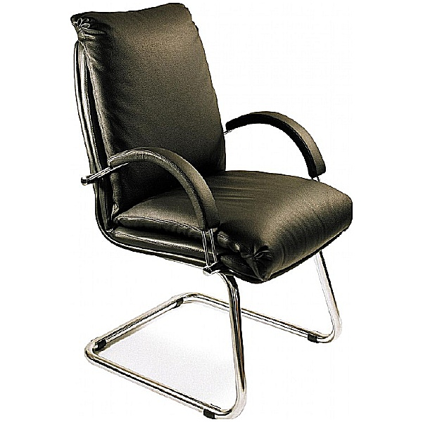 Nadir Leather Faced Visitor Chair