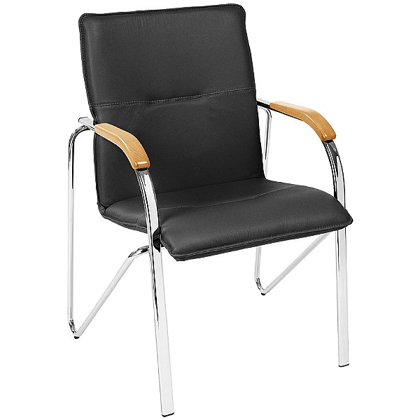 Samba Leather Faced Visitor Chair