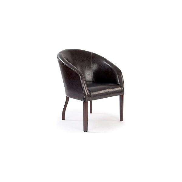 Devon Chocolate Leather Look Armchair