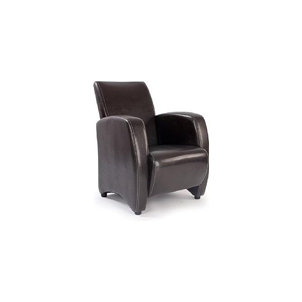 Norfolk Chocolate Leather Look Armchair
