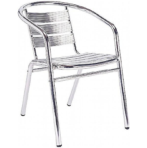 Aluminium Bistro Arm Chair (Minimum 4)