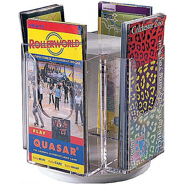 Revolving Tabletop Leaflet Dispensers