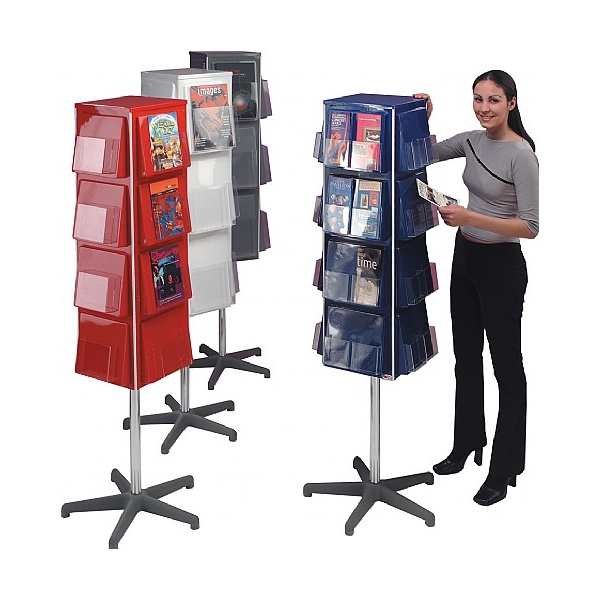 4 Sided Revolving Leaflet Dispensers