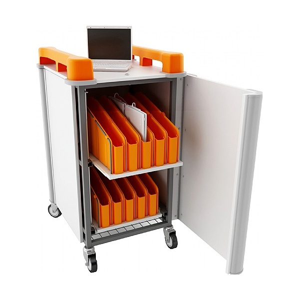 LapCabby Mini 20V- 20 Laptop Vertical Store and Charging Trolley