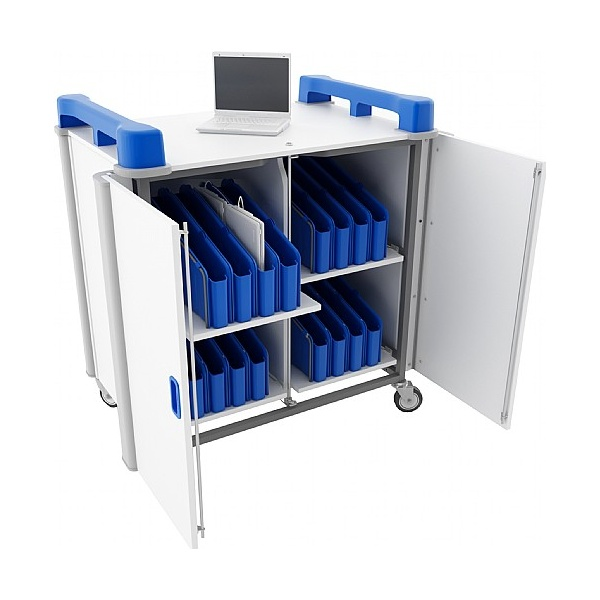 LapCabby Mini 32V- 32 Laptop Vertical Store and Charging Trolley