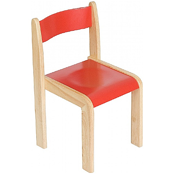 Primary Wooden Stacking Chairs (Pack of 2)