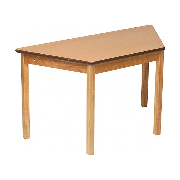 Natural Trapezoidal Classroom Tables