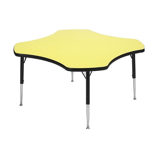 Adjustable Height Clover Top Table